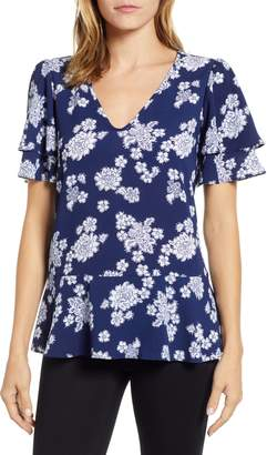MICHAEL Michael Kors Tossed Lace Flowers Top