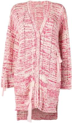 Twin-Set printed knit cardigan with tie detail