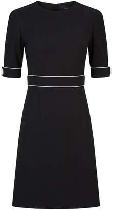 Paule Ka Contrast Piping Shift Dress