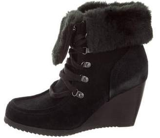 Marc Fisher Suede Wedge Ankle Boots