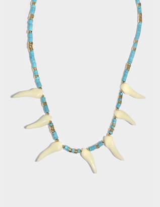 Aurelie Bidermann Squaw Necklace in 18K Gold-Plated Brass