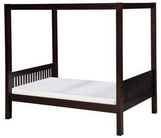 Camaflexi Twin Size Canopy Bed - Mission Headboard - Cappuccino Finish