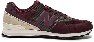 New Balance 696 Re Engineered Sneaker in Wine $90 thestylecure.com