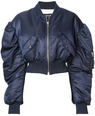 Calvin Klein ruched sleeves bomber jacket