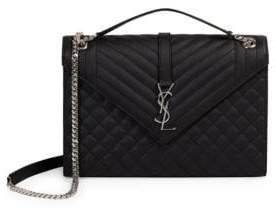 Saint Laurent Large Tri-Quilt Leather Envelope Bag