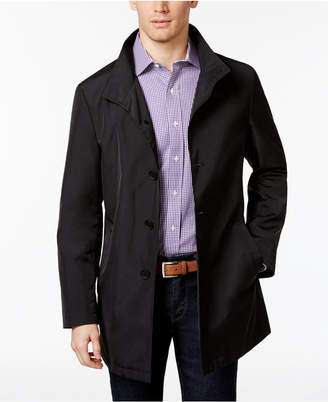 Calvin Klein Men's Slim Fit Black Solid Raincoat $350 thestylecure.com