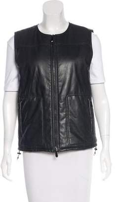 Reed Krakoff Leather Puffer Vest