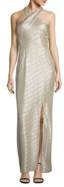Laundry by Shelli Segal Metallic Halter Gown $275 thestylecure.com