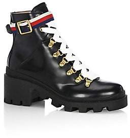 Gucci Women's Magnum Leather Moto Boots