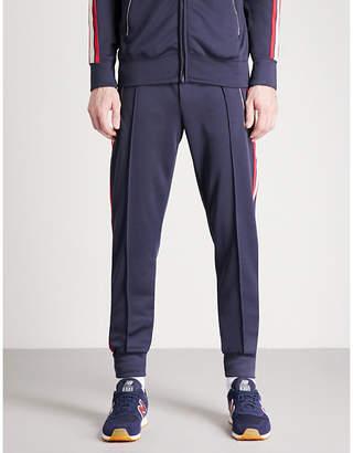 True Religion Side-stripe cotton-jersey jogging bottoms
