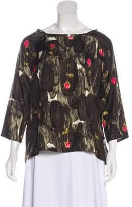 Rachel Comey Long Sleeve Silk Blouse