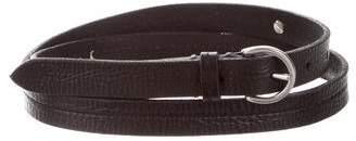 Frye Skinny Leather Belt