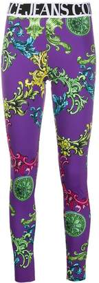 Versace all-over print leggings