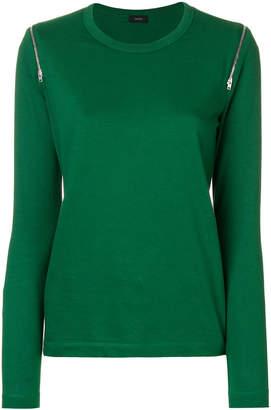 Joseph zip detail long-sleeve sweater