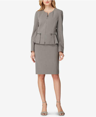 Tahari ASL Pleated Peplum Skirt Suit, Regular & Petite