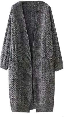 Goodnight Macaroon 'Jessica' Pocket Front Knitted Long Cardigan (2 Colors)