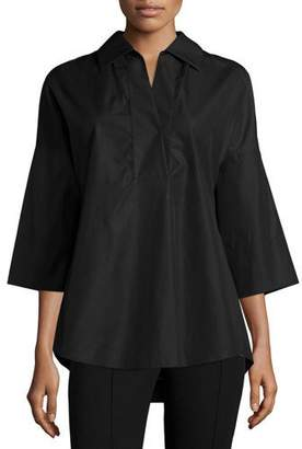 Akris Punto Elements Kimono-Sleeve Blouse, Black