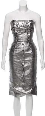 Dolce & Gabbana Strapless Metallic Dress