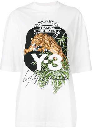 Y-3 big cat print T-shirt