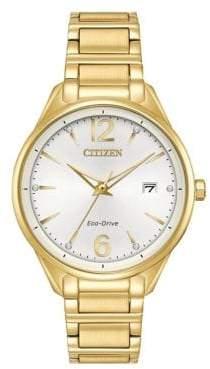 Citizen Eco-Drive Goldtone Stainless Steel Bracelet Watch