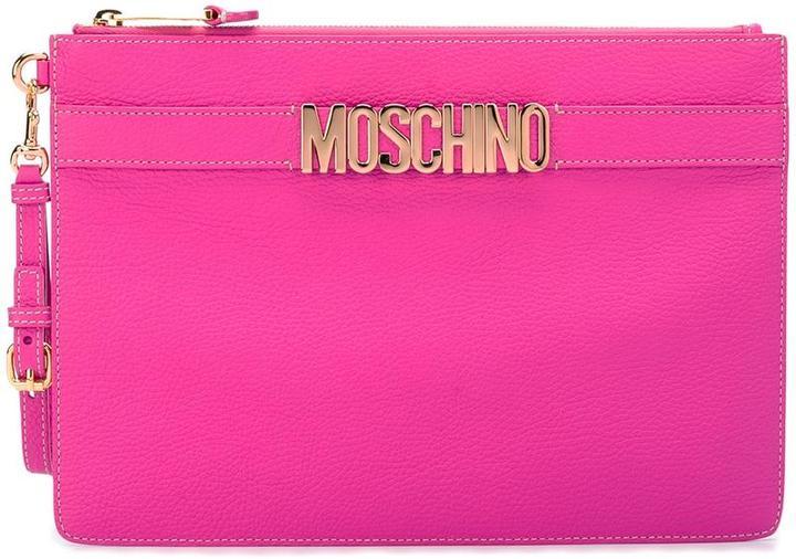 MoschinoMoschino logo strap clutch