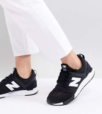 online retailer 18545 822b4 New Balance 247 Trainers In Black And White Mesh