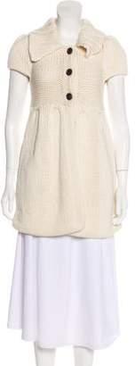 Alice + Olivia Lightweight Knit Short Sleeve Cardigan