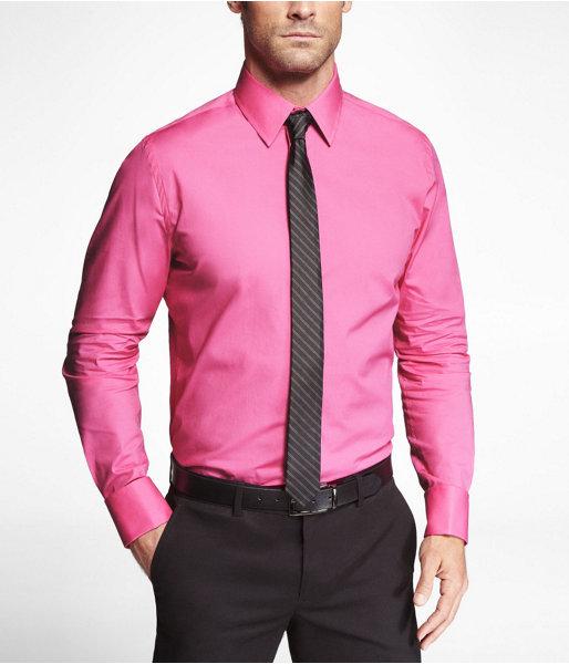 Express 1mx Modern Fit French Cuff Shirt