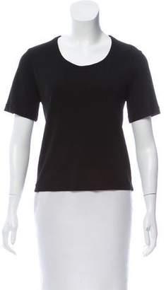 Calvin Klein Collection Scoop Neck Short Sleeve Top