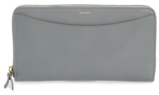 Women's Skagen Leather Continental Wallet - Grey $125 thestylecure.com