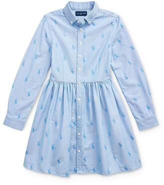 Ralph Lauren Girls' Pony Shirt Dress - Big Kid