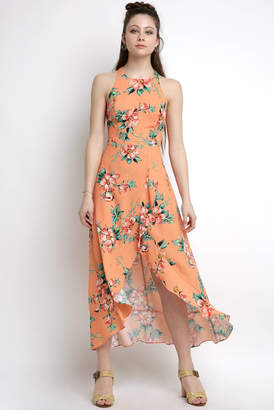 Ali & Jay Sleeveless Floral High Low Maxi Dress