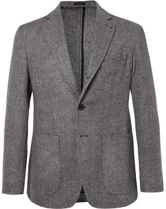 Rubinacci Grey Unstructured Wool And Cashmere-Blend Blazer