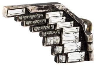 Lanvin Crystal Left Eagle Wing Ring