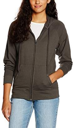 Fruit of the Loom Women's Zip Front Lightweight Hooded Sweat,(Manufacturer Size:Large)