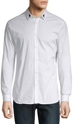 Just Cavalli Men's Embroidered Button-Down Shirt