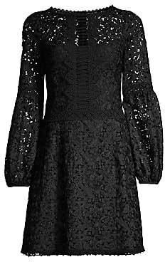 Nanette Lepore Women's Scenic Lace Fit-&-Flare Dress