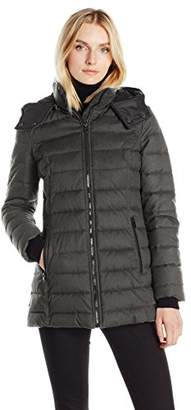 """Nautica Women's Hooded Puffer in """"Faux Wool"""" Fabric $139 thestylecure.com"""