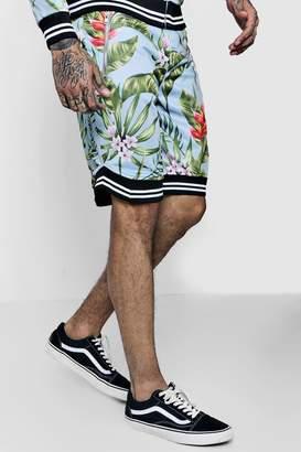 boohoo Floral Basketball Sports Shorts Co-ord