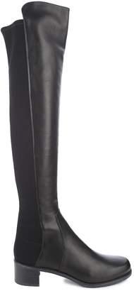 Stuart Weitzman Reserve Elastic-back Leather Boots
