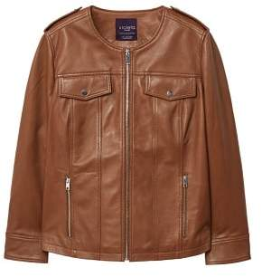 Violeta BY MANGO Pocket leather jacket