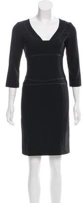 Narciso Rodriguez Long Sleeve Wool Dress