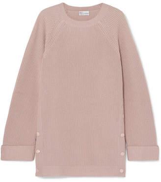 RED Valentino Ribbed Wool Sweater - Blush