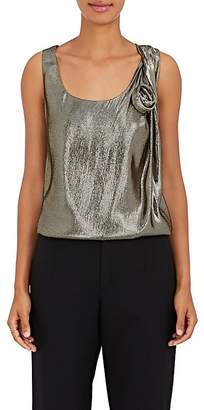Lanvin Women's Floret-Appliquéd Silk-Blend Sleeveless Blouse