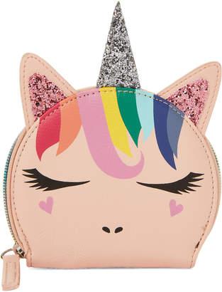 Omg! Accessories Blush Rain Unicorn Coin Purse
