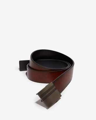 Express Striped Plaque Reversible Belt