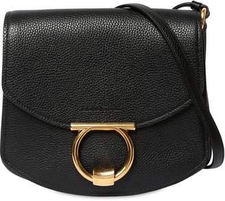 Salvatore Ferragamo Margot Grained Leather Shoulder Bag