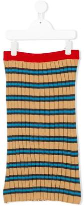 Marni stripped knitted skirt
