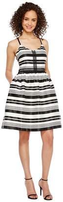 Jessica Simpson Striped Party Dress JS7A9599 Women's Dress