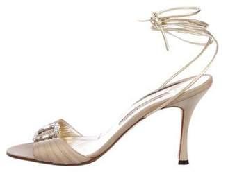 56616b29fc7 Manolo Blahnik Ankle Wrap Women s Sandals - ShopStyle